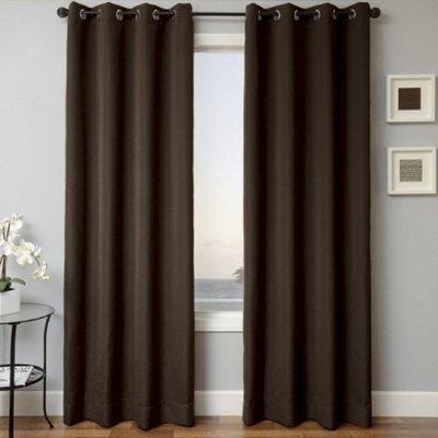 Sunbrella Grommet Window Panels - Bay Brown (52x84