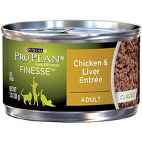Purina Pro Plan Wet Cat Food, Finesse, Adult Chicken and Liver Entrée, 3-Ounce Can, Pack of 24