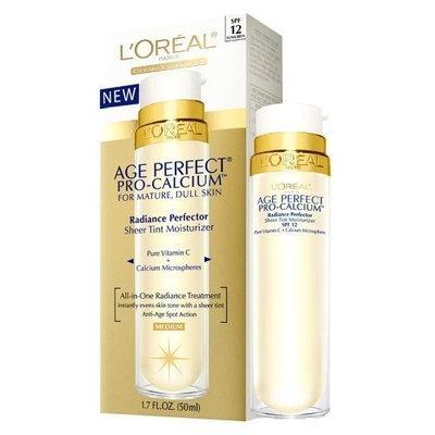 L'Oréal L'Oréal Age Perfect Pro-Calcium Radiance Perfector Sheer Tint Moisturizer, Medium - 1.7 Oz