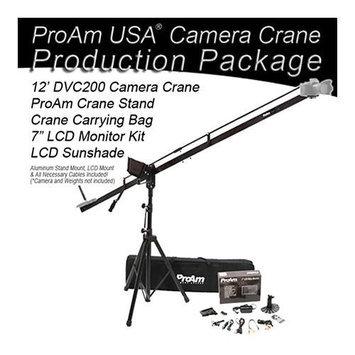 ProAm Orion 12' DVC200 Camera Crane Production Package, Includes Crane Stand, Crane Carrying Bag, 7