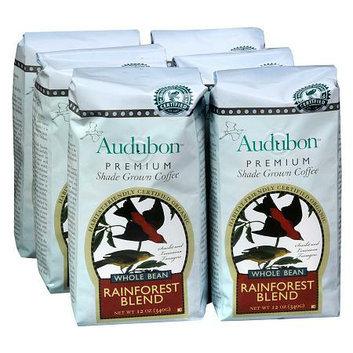 Audubon Premium Shade Grown Whole Bean Coffee 6 Pack