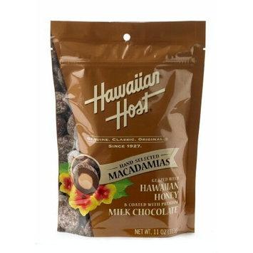 Hawaiian Host MACADAMIA NUTS - Covered in Premium Milk Chocolate & Glazed with Hawaiian Honey, LARGE 11 oz (Resealable Bag)