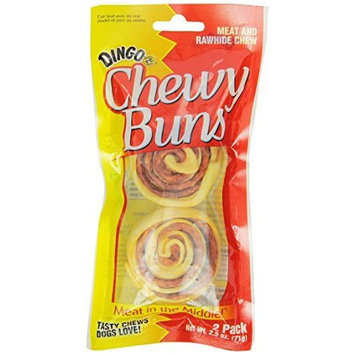 Dingo Chewy Buns Rawhide Rolls, 2-Count (P-23866)