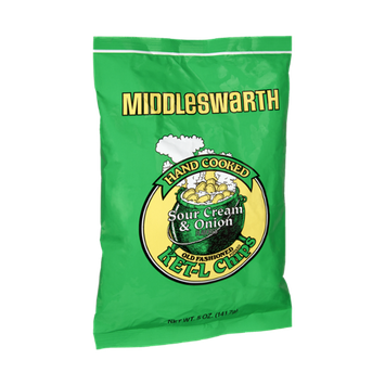 Middleswarth Hand Cooked Sour Cream & Onion Old Fashioned Ket-L Chips