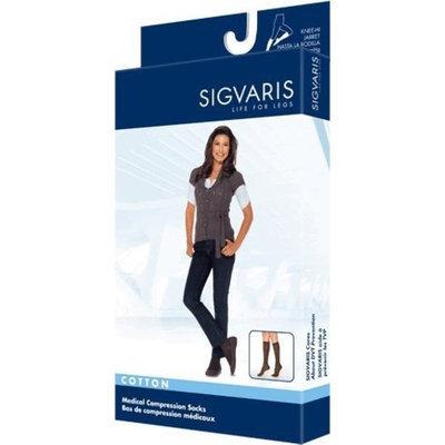Sigvaris Women's Cotton Knee High Socks 30-40mmHg Closed Toe Long Length, X-Large Long, White