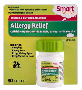 Smart Sense Cetirizine Tablets, 30 tablets