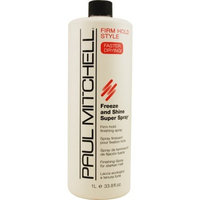 Paul Mitchell Freeze and Shine Super Finishing Spray Refill for Unisex, 33.8 Ounce