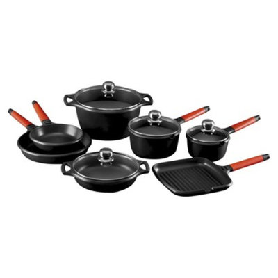 Fundix 11 Pc Induction Cookware Set Red