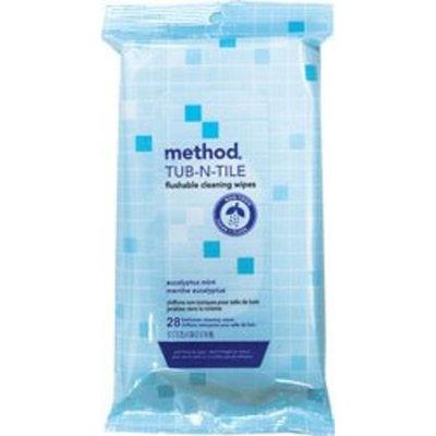 Method Products method Flushable Bathroom Wipes, Eucalyptus Mint, 28 ct