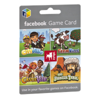 Zynga Facebook $25 Game Card