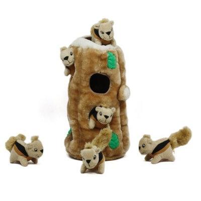 Kyjen Outward Hound Hide A Squirrel Plush Dog Toy Squeak Toy 4 Piece