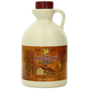 Andersons Anderson's Pure Maple Syrup, Grade A, 32-Ounce