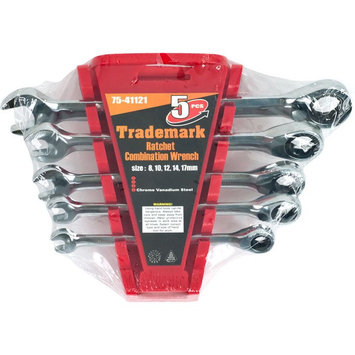 Trademark Commerce Trademark Tools Ratchet Combination Wrenches Metric Set Of 5