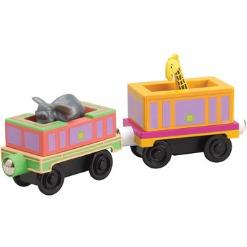 Learning Curve International, Inc. Chuggington Wooden Railway Safari Cars 2 Pack by Learning Curve