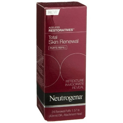 Neutrogena Ageless Restoratives Total Skin Renewal Puffs Refill (Attachment Head, 24 Renewal Puffs), 1.57 Inch