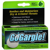 GoGargle! Effervescent Salt Gargle Tablets, Mint, 10 ea