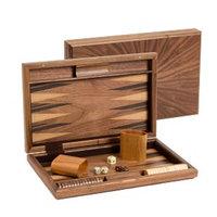 CHH Backgammon Set, Fancy Walnut, 15 inch, 1 ea