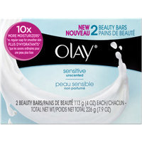 Olay Sensitive Unscented Beauty Bars, 4 oz, 2 count