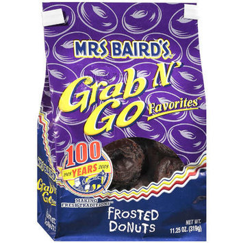 Mrs. Baird's Mrs Baird's: Grab N' Go Favorites Frosted Donuts, 11.25 Oz