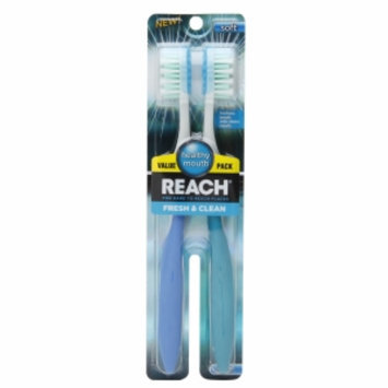 Reach Fresh & Clean Soft Value Pack Adult Toothbrushes, 2 ea
