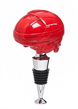 Detroit Red Wings Logo Helmet Wine Bottle Stopper