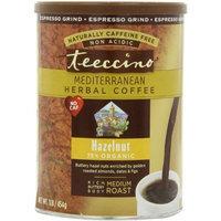 Teeccino Caffeine Free Herbal Coffee Espresso Grind, Hazelnut, 16-Ounce