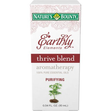 Nature S Bounty Nature's Bounty Earthly Elements Thrive Blend Aromatherapy 100% Pure Essential Oils, 0.34 fl oz