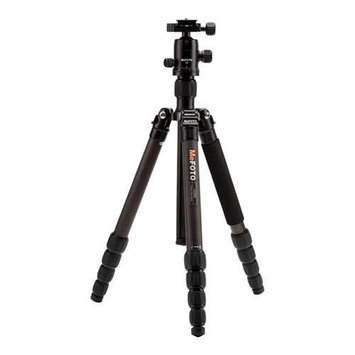 MeFOTO GlobeTrotter Carbon Fiber Tripod Kit, 5 Sections, 64.17 Max Height, 26.45 lbs Load Capa