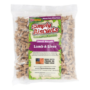 K9 Granola Factory Simply Biscuits Lamb and Rice Dog Treat Small 1lb