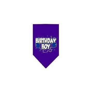 Ahi Birthday Boy Screen Print Bandana Purple Large