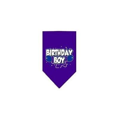 Ahi Birthday Boy Screen Print Bandana Purple Large