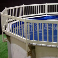 Vinyl Works Taupe Above Ground Pool Fence Kit
