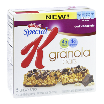 Kellogg's Special K Dark Chocolate Granola Bars - 5 CT