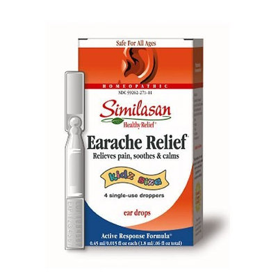 Similasan Kidz Size Earache Relief, Single-Use Droppers, 2.25ml
