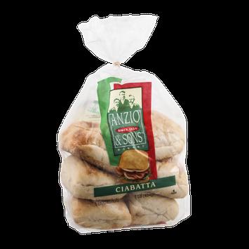 Anzio & Sons Bakery Ciabatta - 6 CT