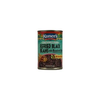 Kuners Kuner's Southwestern Refried Black Beans 15.5 OZ(Pack of 12)