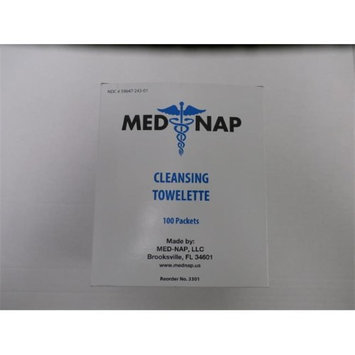 Med-Nap 3301 Cleansing Antiseptic 100 Towelette