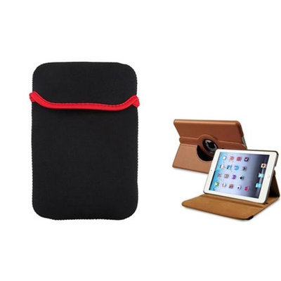 Insten iPad Mini 3/2/1 Case, by INSTEN Brown 360 Leather Case Cover+Sleeve Pouch for iPad Mini 3 2 1