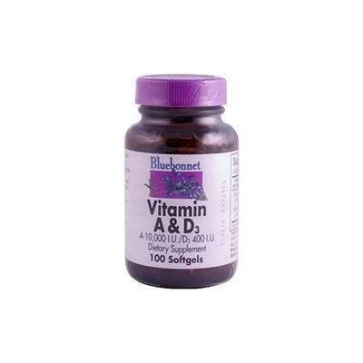 Vitamin A&D 10,000IU/400IU Bluebonnet 100 Softgel