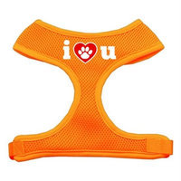 Mirage Pet Products 7030 SMOR I Love U Soft Mesh Harnesses Orange Small