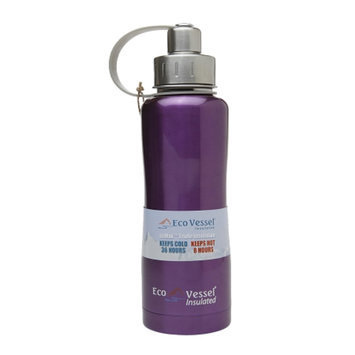 Eco Vessel Boulder Triple Insulated Stainless Steel Water Bottle Thermos w/ Screw Top