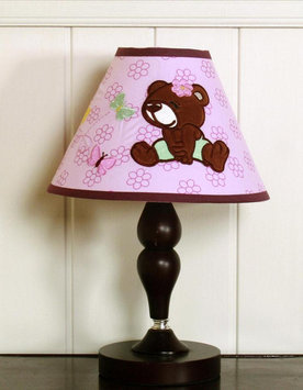 Geenny GEENNY Girl Teddy Bear Lamp Shade Multi-color