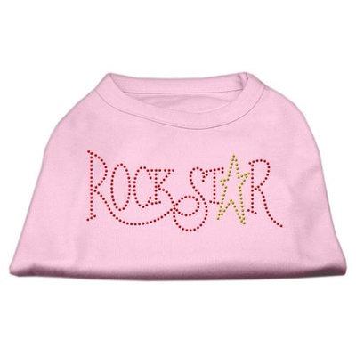 Mirage Pet Products 5273 XLLPK RockStar Rhinestone Shirts Light Pink XL 16