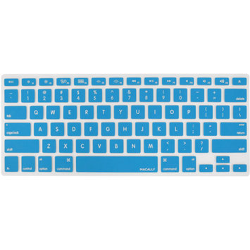 Macally KBGUARDBL Silicon Overlay for MacBook Pro/MacBook Air or Mac Keyboard, Blue