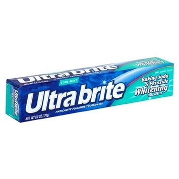 Ultra Brite Anticavity Fluoride Toothpaste Anticavity Fluoride Toothpaste, Cool Mint, 6 Oz (Pack of 6))
