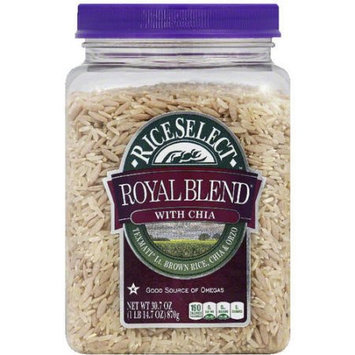 Riceselect Rice Select Royal Blend Rice with Chia, 30.7 oz, (Pack of 4)