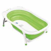 Karibu Baby Folding Bath, Green and White, 1 ea