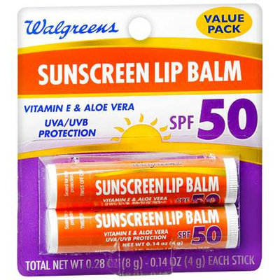 Walgreens Sunscreen Lip Balm 2 Pack SPF 50