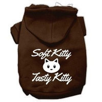 Mirage Pet Products Softy Kitty Tasty Kitty Screen Print Dog Pet Hoodies Brown Size Med (12)
