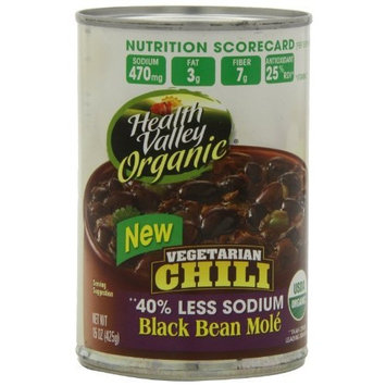 Health Valley Organic Chili Black Bean Mole, 15 Ounce Cans (Pack of 12)
